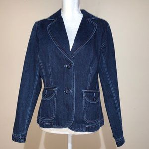 Liz Claiborne Longsleeves Denim Jacket Sz Medium